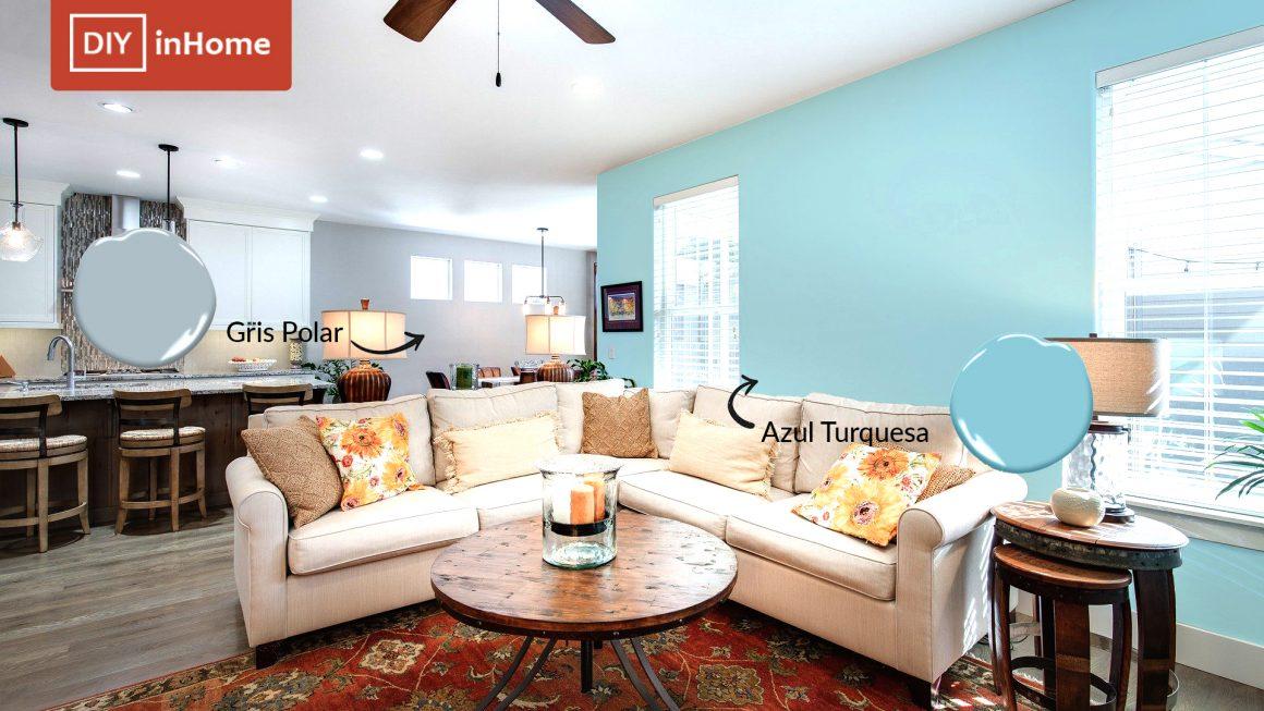 Los mejores colores azul grisáceo y gris azulado para pintar tu hogar