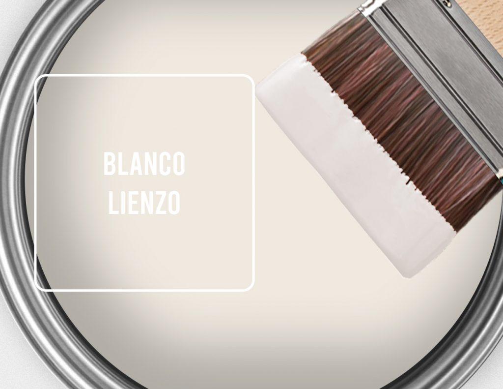 pintura blanco lienzo para paredes para combinar con suelos de madera oscuros