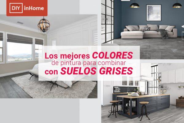 ¿Qué colores de paredes combinan mejor con suelos grises?