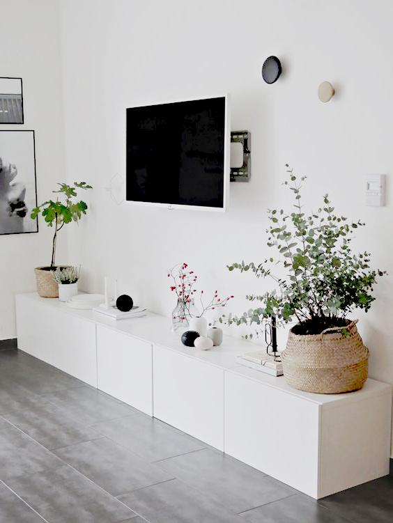 salloon blanco con suelos color gris